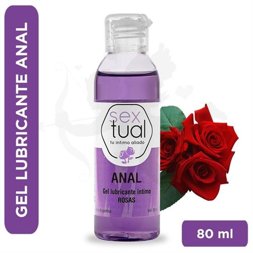 Gel anal con aroma a rosas 80 ml